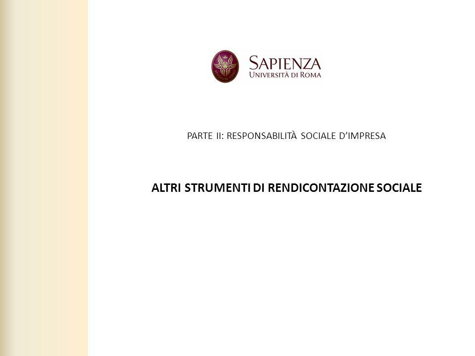 2 ALTRI STRUMENTI DI RENDICONTAZIONE SOCIALE