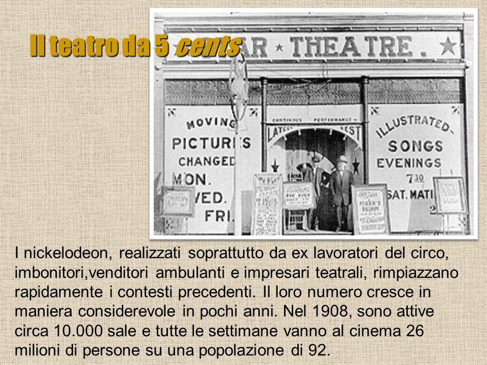 I nickelodeon, realizzati soprattutto da ex lavoratori del circo, imbonitori,venditori ambulanti e impresari teatrali, rimpiazzano rapidamente i conte