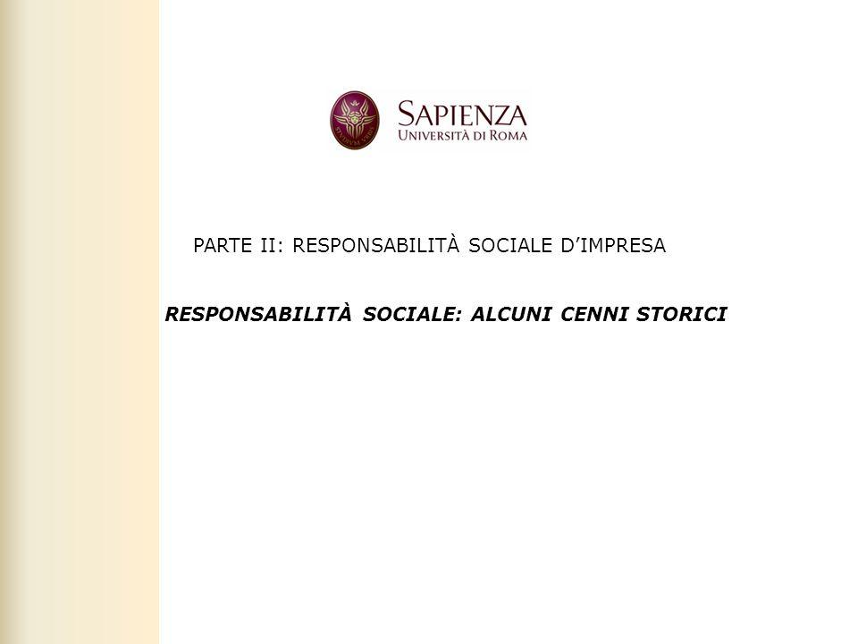 Facoltà di Scienze politiche, sociali e della comunicazione – A.A. 2010-2011 | Rresponsabilità sociale dimpresa | Prof. Claudio Cipollini PARTE II: RE