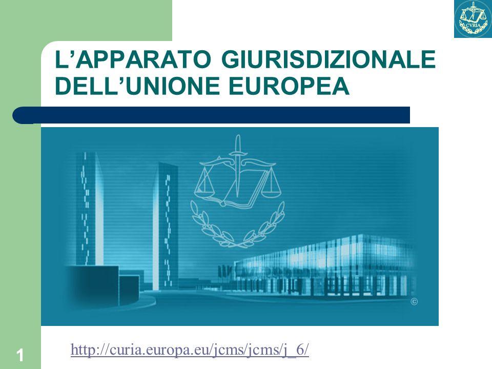 1 LAPPARATO GIURISDIZIONALE DELLUNIONE EUROPEA http://curia.europa.eu/jcms/jcms/j_6/