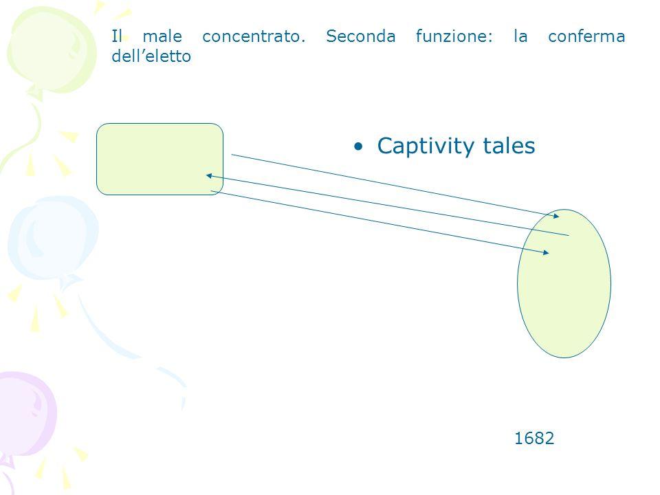 Captivity tales 1682 Il male concentrato. Seconda funzione: la conferma delleletto