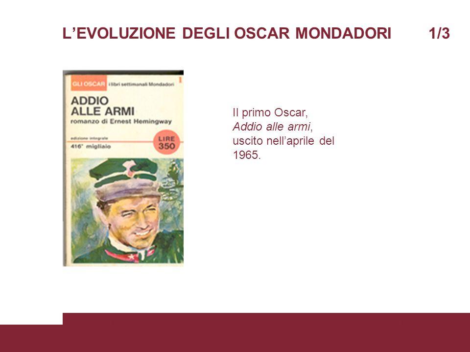 LEVOLUZIONE DEGLI OSCAR MONDADORI 1/3 05/06/2008Scienze della ComunicazionePagina 4 Il primo Oscar, Addio alle armi, uscito nellaprile del 1965.