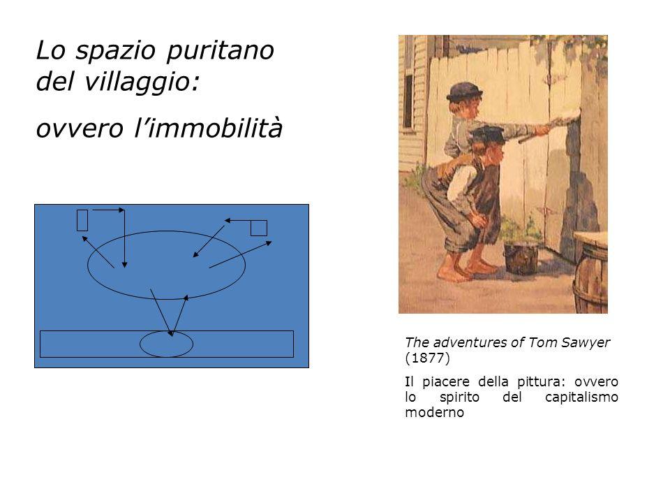 Lo spazio puritano del villaggio: ovvero limmobilità The adventures of Tom Sawyer (1877) Il piacere della pittura: ovvero lo spirito del capitalismo m