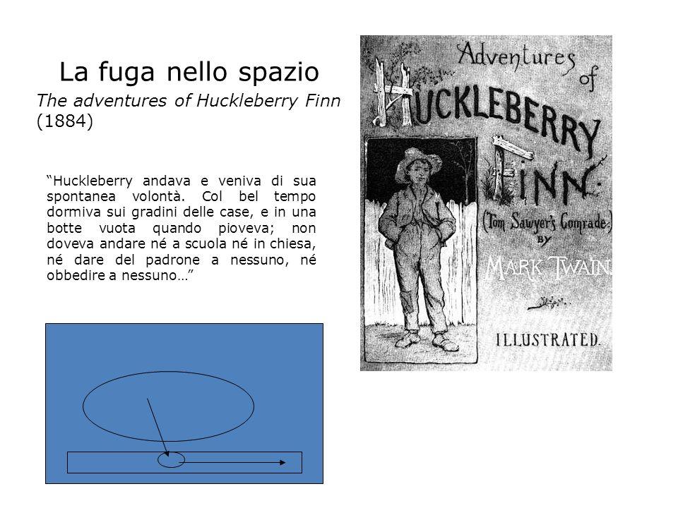 La fuga nello spazio The adventures of Huckleberry Finn (1884) Huckleberry andava e veniva di sua spontanea volontà. Col bel tempo dormiva sui gradini