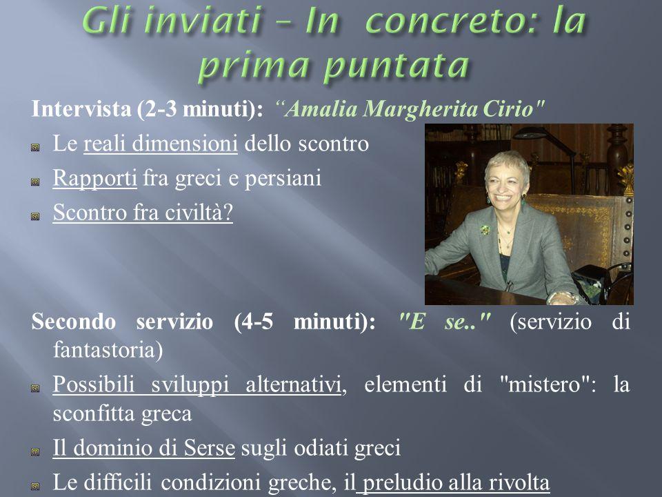 Intervista (2-3 minuti): Amalia Margherita Cirio
