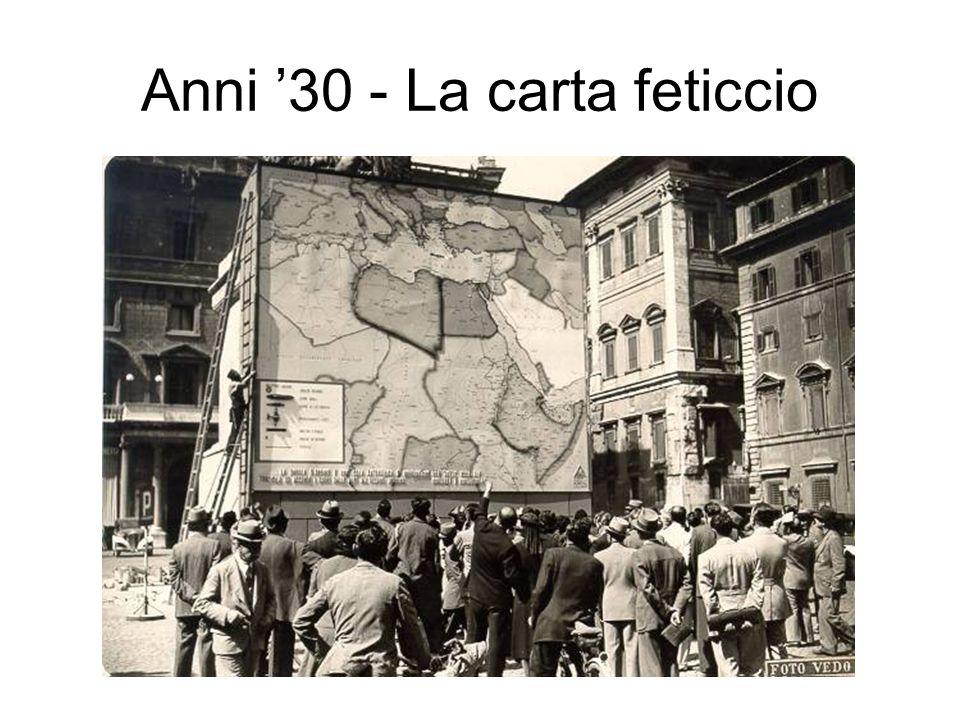 Anni 30 - La carta feticcio