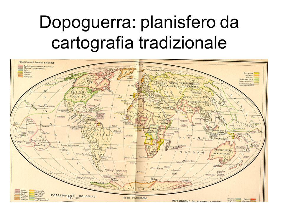 Dopoguerra: planisfero da cartografia geopolitica