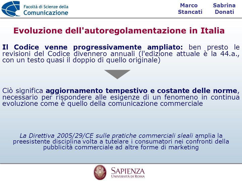 Sabrina Donati Marco Stancati Il Codice venne progressivamente ampliato: ben presto le revisioni del Codice divennero annuali (l'edizione attuale è la