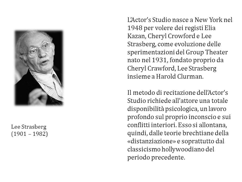 LActors Studio nasce a New York nel 1948 per volere dei registi Elia Kazan, Cheryl Crowford e Lee Strasberg, come evoluzione delle sperimentazioni del
