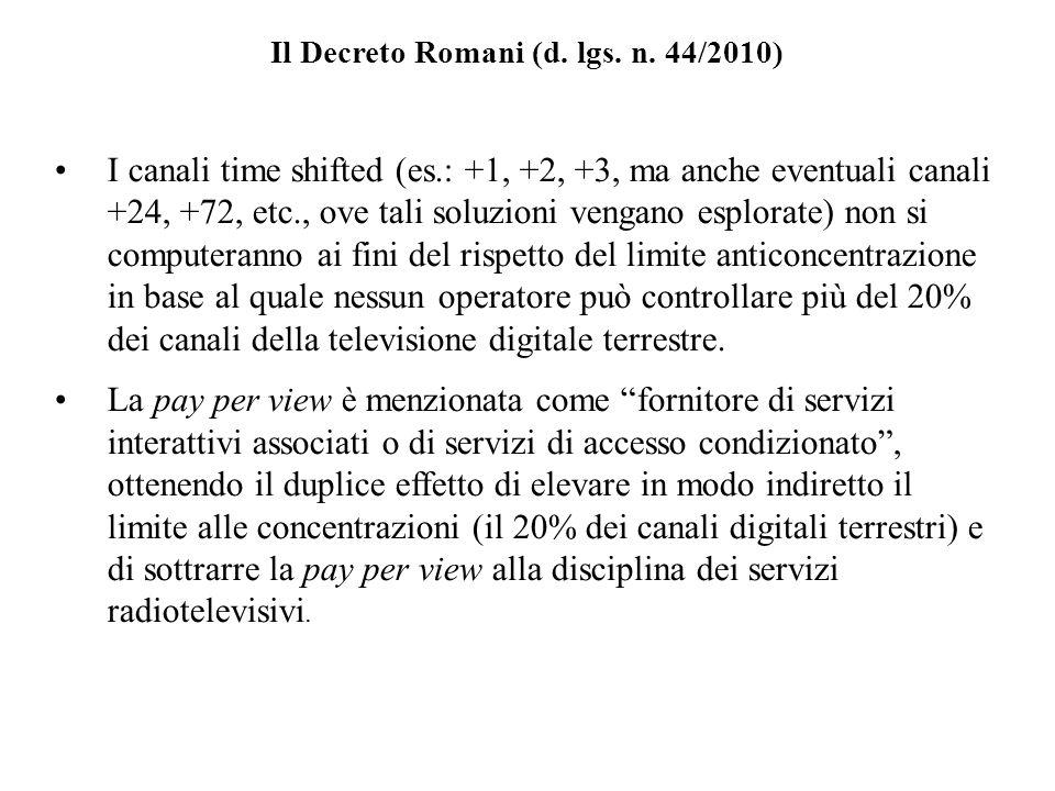 Il Decreto Romani (d.lgs. n.
