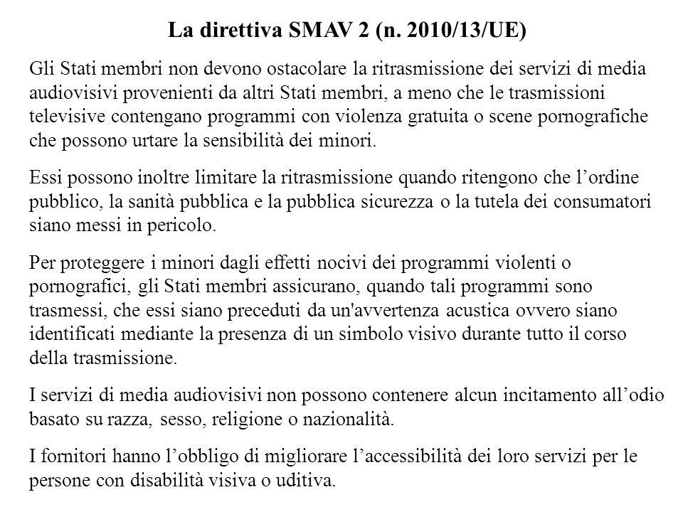 La direttiva SMAV 2 (n.