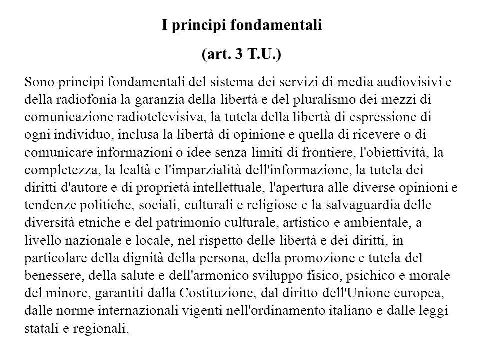 I principi fondamentali (art.