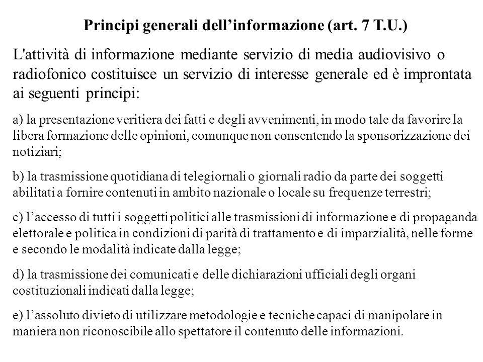 Principi generali dellinformazione (art.