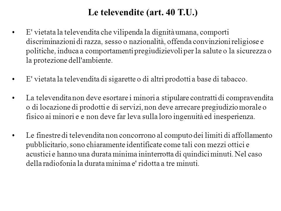 Le televendite (art.