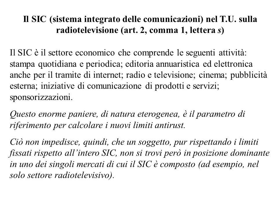 Il SIC (sistema integrato delle comunicazioni) nel T.U.
