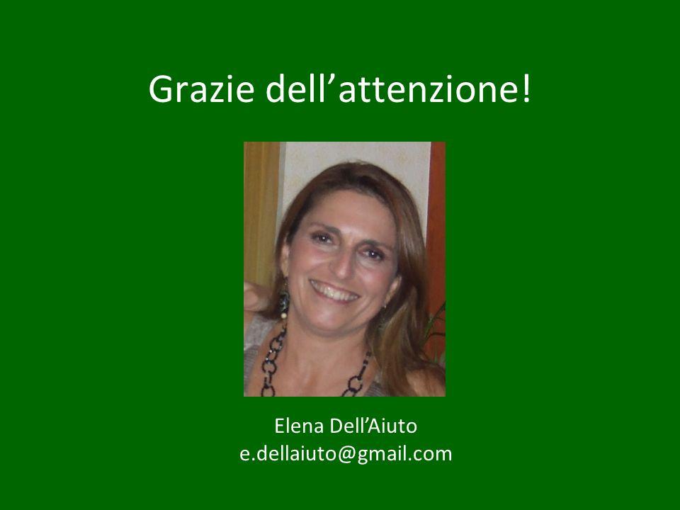 Grazie dellattenzione! Elena DellAiuto e.dellaiuto@gmail.com