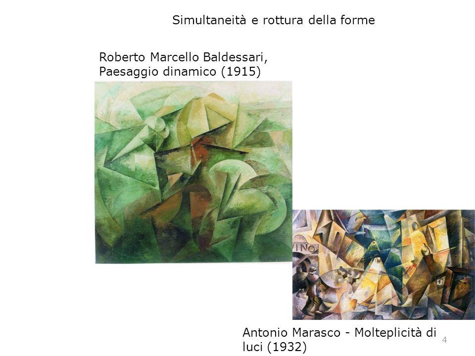 4 Antonio Marasco - Molteplicità di luci (1932) Roberto Marcello Baldessari, Paesaggio dinamico (1915) Simultaneità e rottura della forme