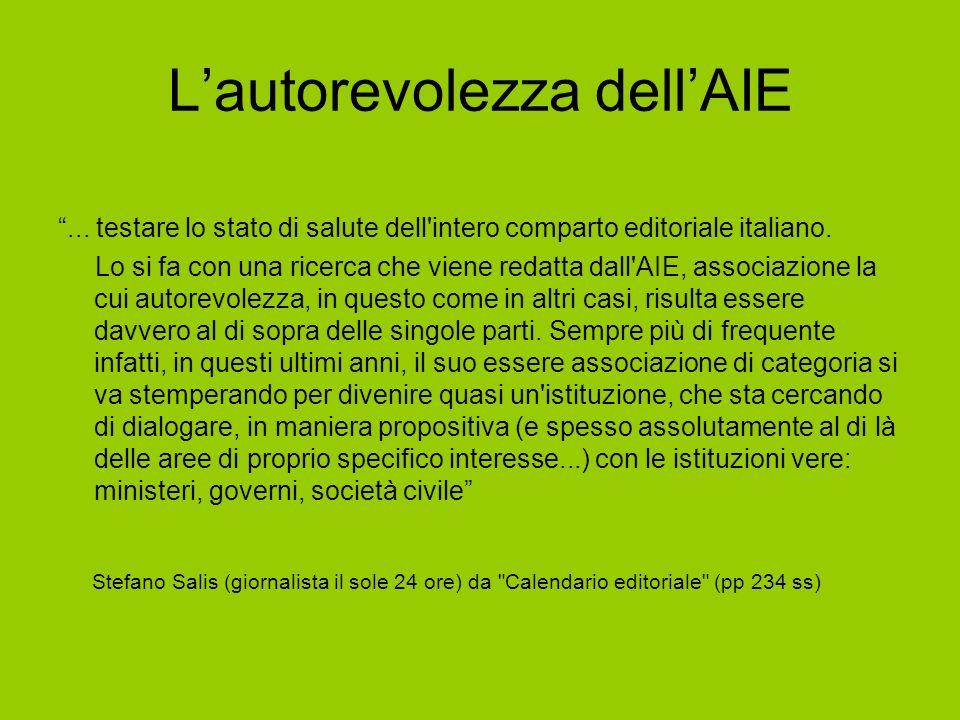 ... testare lo stato di salute dell intero comparto editoriale italiano.