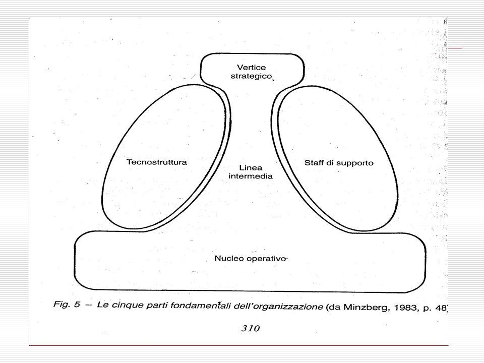 13 Segue 4)analisti tecnostruttura Possono operare a tutti i livelli di gerarchia, compreso il vertice, ad es.