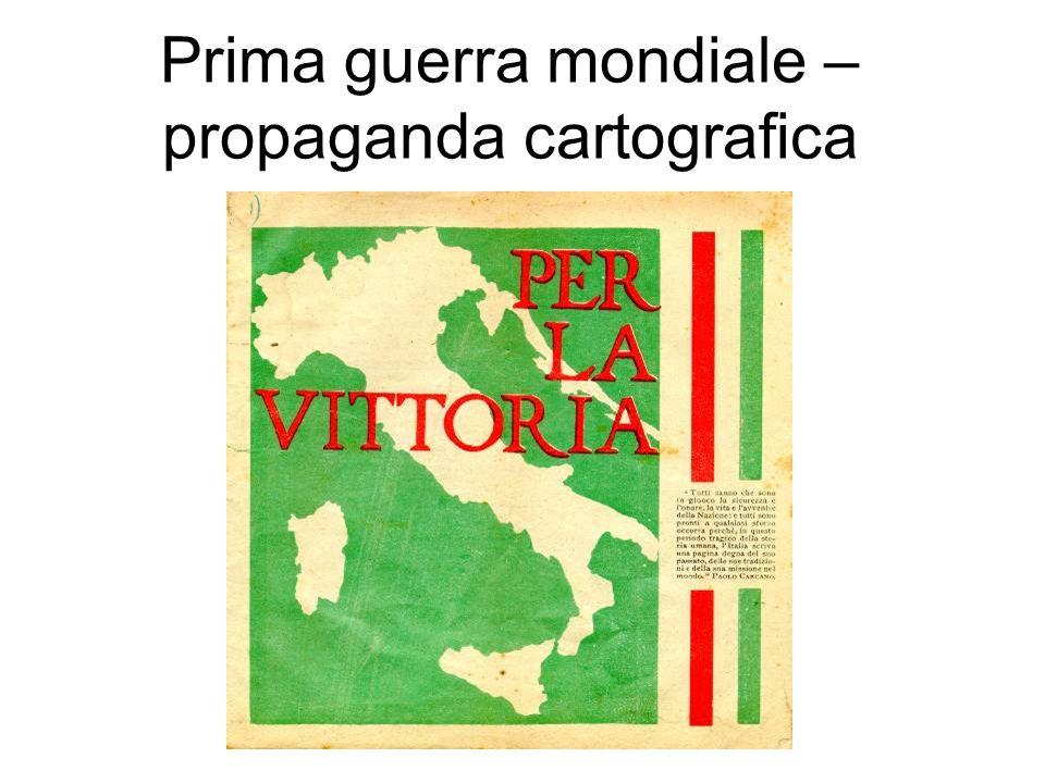 Prima guerra mondiale – propaganda cartografica