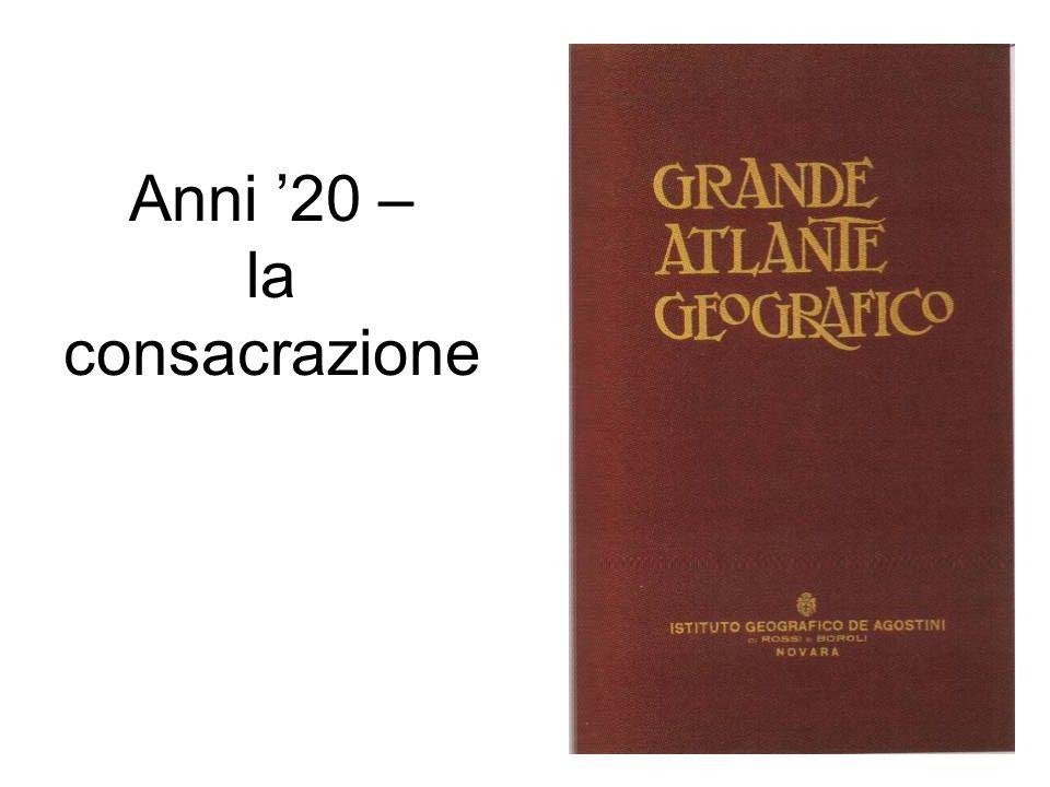 Anni 20 – la consacrazione