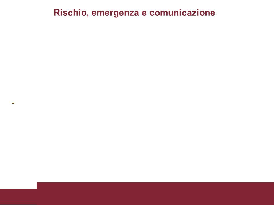 - Rischio, emergenza e comunicazione