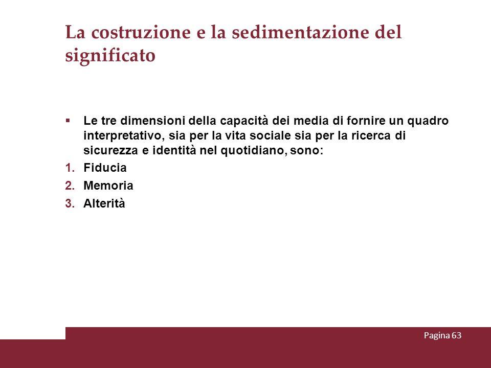 La costruzione e la sedimentazione del significato Le tre dimensioni della capacità dei media di fornire un quadro interpretativo, sia per la vita soc