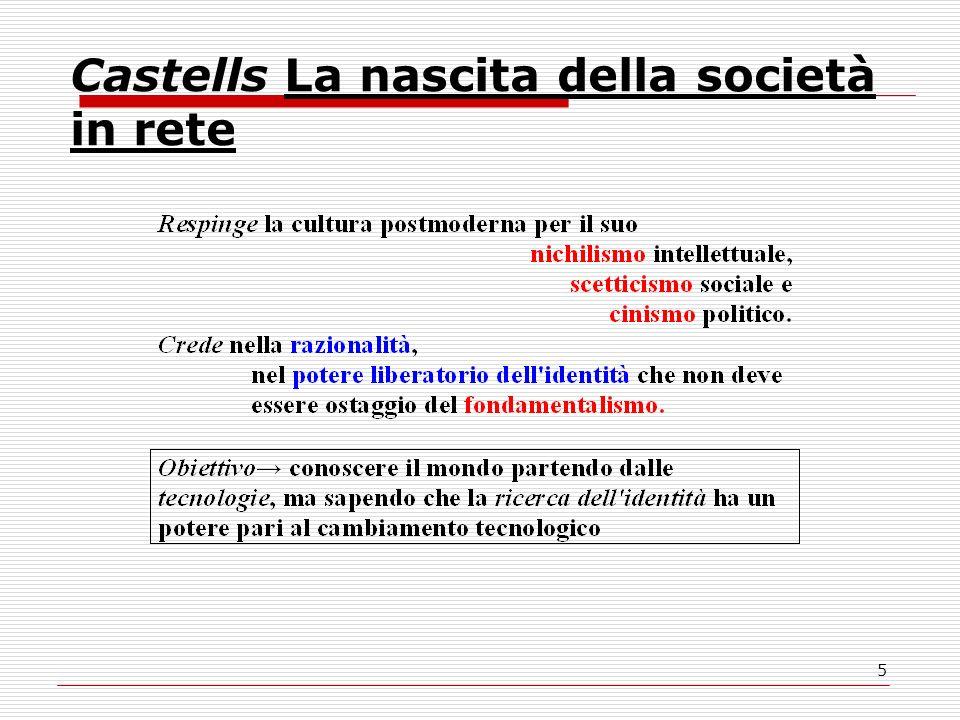 5 Castells La nascita della società in rete