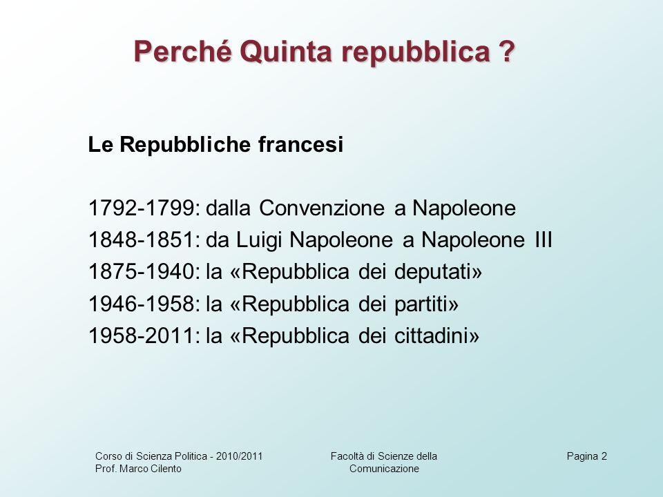 La riforma del Quinquennato ….