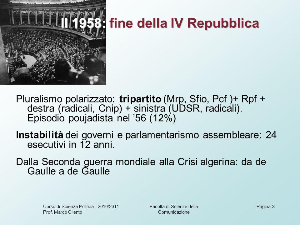 Facoltà di Scienze della Comunicazione Corso di Scienza Politica - 2010/2011 Prof.