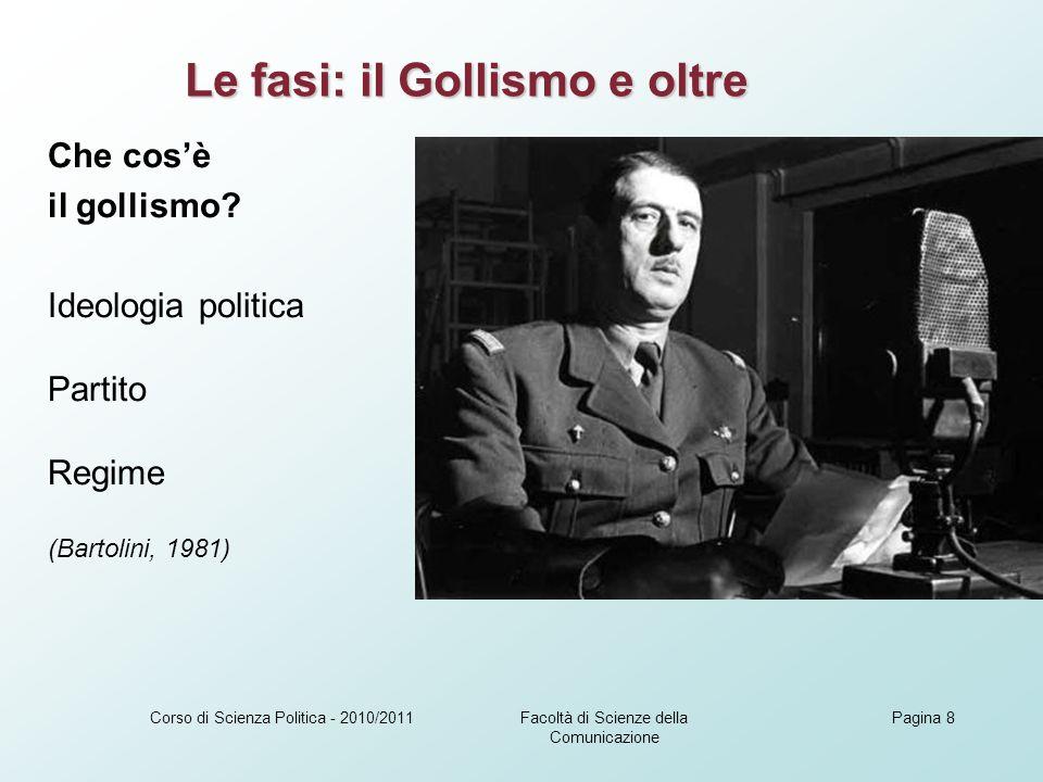 Facoltà di Scienze della Comunicazione Corso di Scienza Politica - 2010/2011Pagina 9 1974: una nuova era della Quinta repubblica.