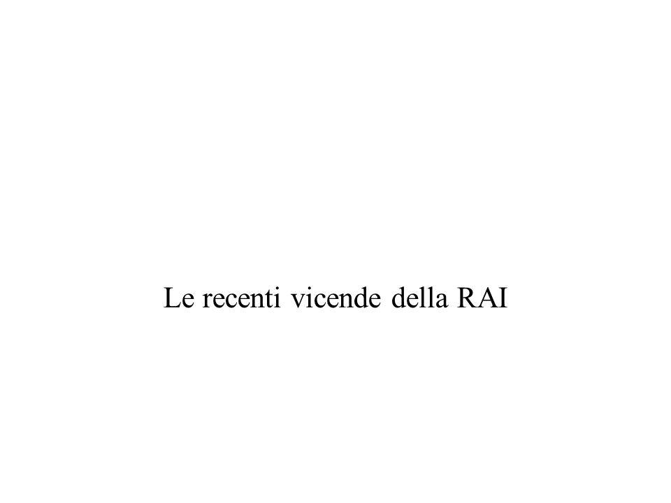 Le recenti vicende della RAI