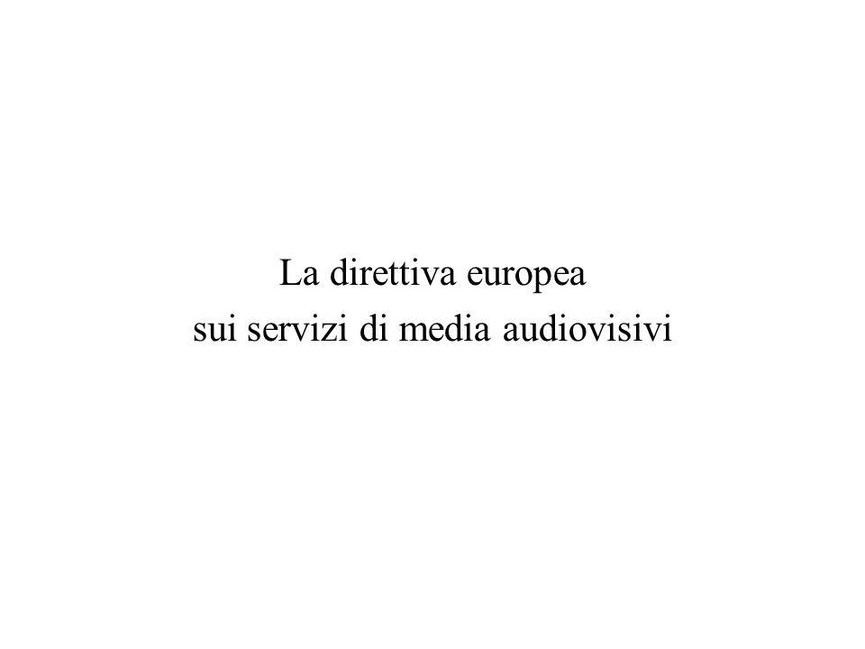 La direttiva europea sui servizi di media audiovisivi