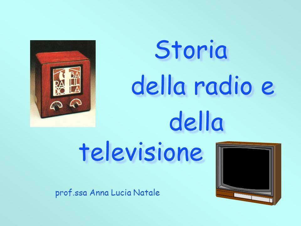 Storia della radio e della televisione Storia della radio e della televisione prof.ssa Anna Lucia Natale