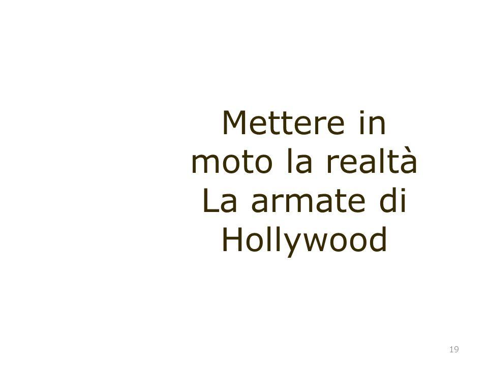 19 Mettere in moto la realtà La armate di Hollywood