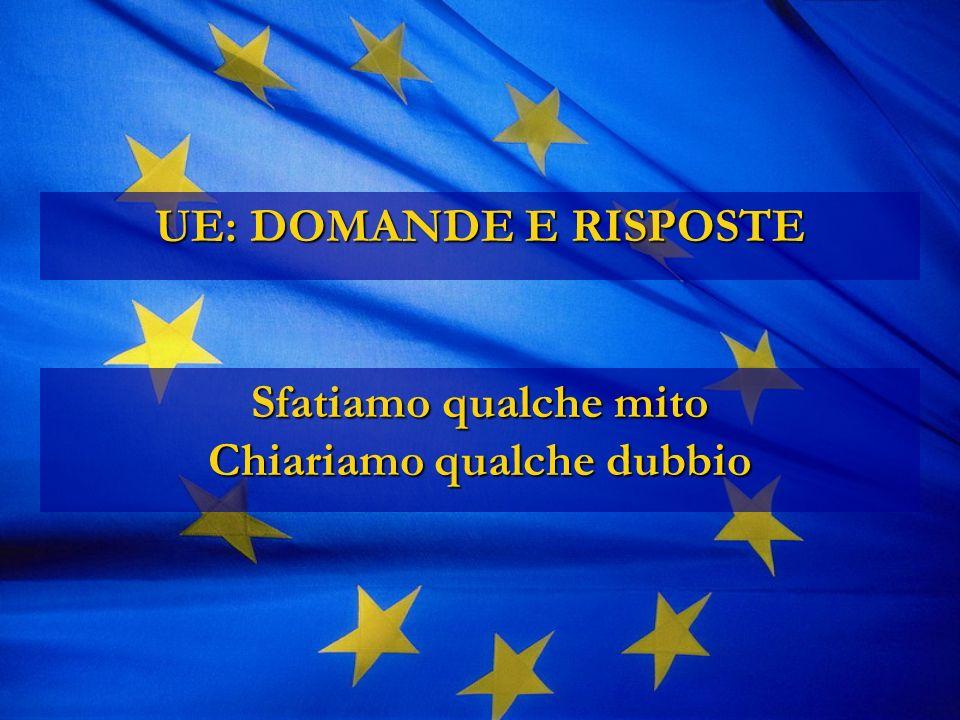 UE: DOMANDE E RISPOSTE Sfatiamo qualche mito Chiariamo qualche dubbio
