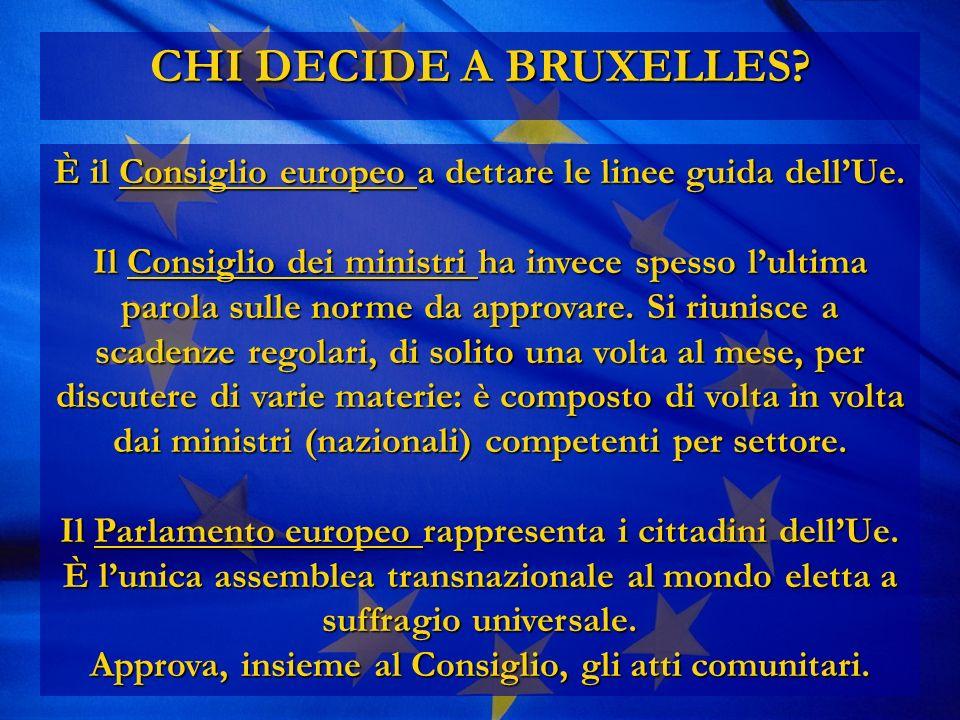 CHI DECIDE A BRUXELLES. È il Consiglio europeo a dettare le linee guida dellUe.