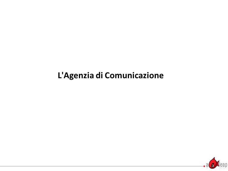 LAgenzia di Comunicazione UnAgenzia di Comunicazione si compone essenzialmente di tre reparti: Account: Gestisce le relazioni tra clienti ed agenzia (Account Manager, Senior Account, Junior Account).