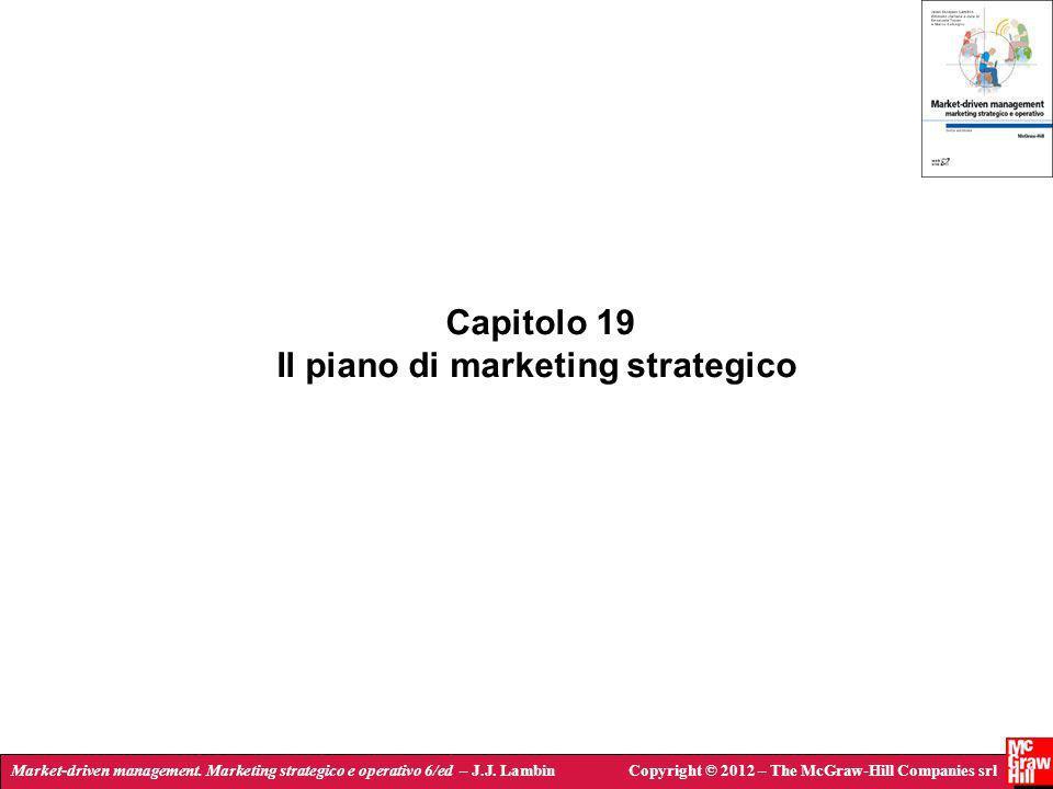 Market-driven management. Marketing strategico e operativo 6/ed – J.J. LambinCopyright © 2012 – The McGraw-Hill Companies srl Capitolo 19 Il piano di