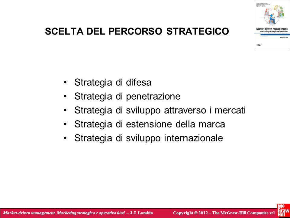 Market-driven management. Marketing strategico e operativo 6/ed – J.J. LambinCopyright © 2012 – The McGraw-Hill Companies srl SCELTA DEL PERCORSO STRA