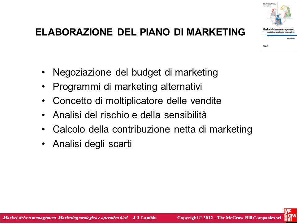 Market-driven management. Marketing strategico e operativo 6/ed – J.J. LambinCopyright © 2012 – The McGraw-Hill Companies srl ELABORAZIONE DEL PIANO D