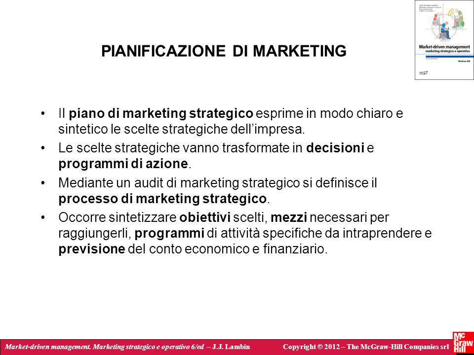 Market-driven management. Marketing strategico e operativo 6/ed – J.J. LambinCopyright © 2012 – The McGraw-Hill Companies srl PIANIFICAZIONE DI MARKET