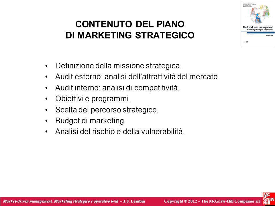 Market-driven management. Marketing strategico e operativo 6/ed – J.J. LambinCopyright © 2012 – The McGraw-Hill Companies srl CONTENUTO DEL PIANO DI M