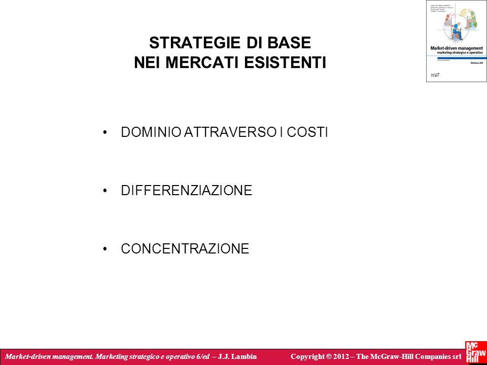 Market-driven management. Marketing strategico e operativo 6/ed – J.J. LambinCopyright © 2012 – The McGraw-Hill Companies srl STRATEGIE DI BASE NEI ME