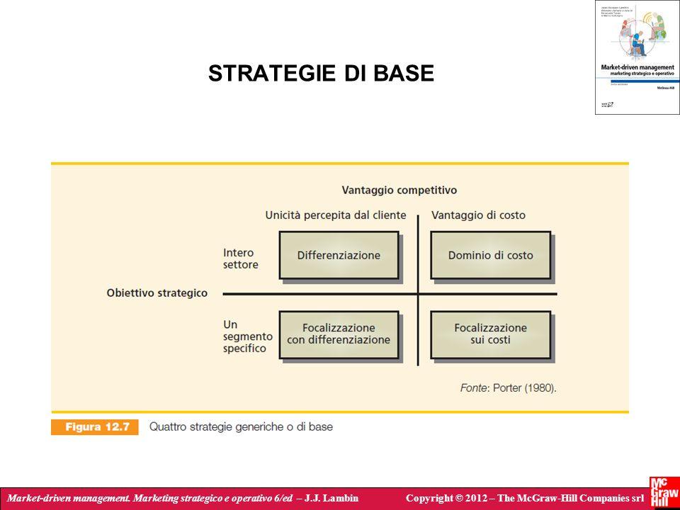 Market-driven management. Marketing strategico e operativo 6/ed – J.J. LambinCopyright © 2012 – The McGraw-Hill Companies srl STRATEGIE DI BASE