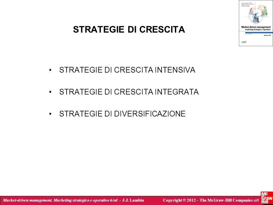 Market-driven management. Marketing strategico e operativo 6/ed – J.J. LambinCopyright © 2012 – The McGraw-Hill Companies srl STRATEGIE DI CRESCITA ST