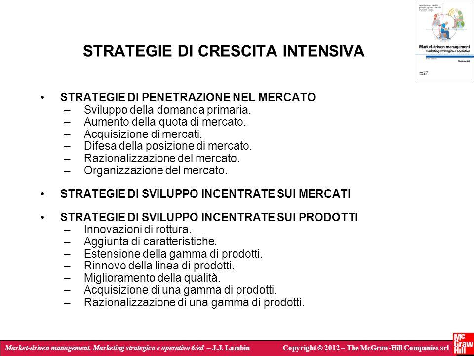 Market-driven management. Marketing strategico e operativo 6/ed – J.J. LambinCopyright © 2012 – The McGraw-Hill Companies srl STRATEGIE DI CRESCITA IN