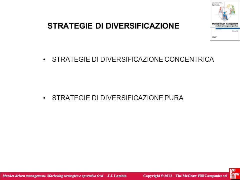 Market-driven management. Marketing strategico e operativo 6/ed – J.J. LambinCopyright © 2012 – The McGraw-Hill Companies srl STRATEGIE DI DIVERSIFICA