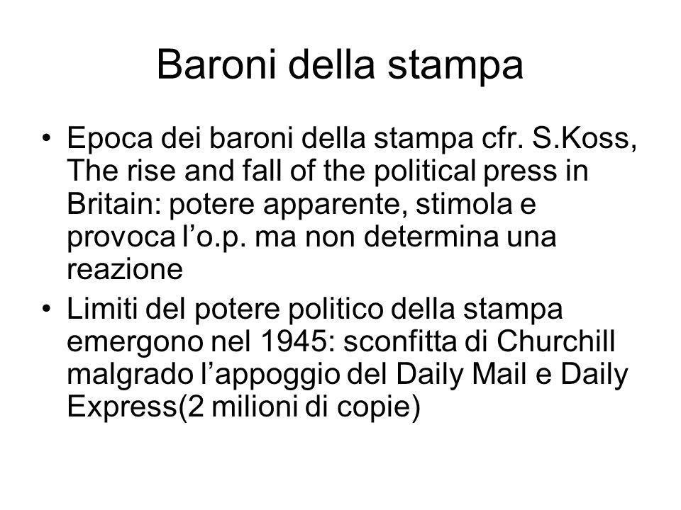 Baroni della stampa Epoca dei baroni della stampa cfr.