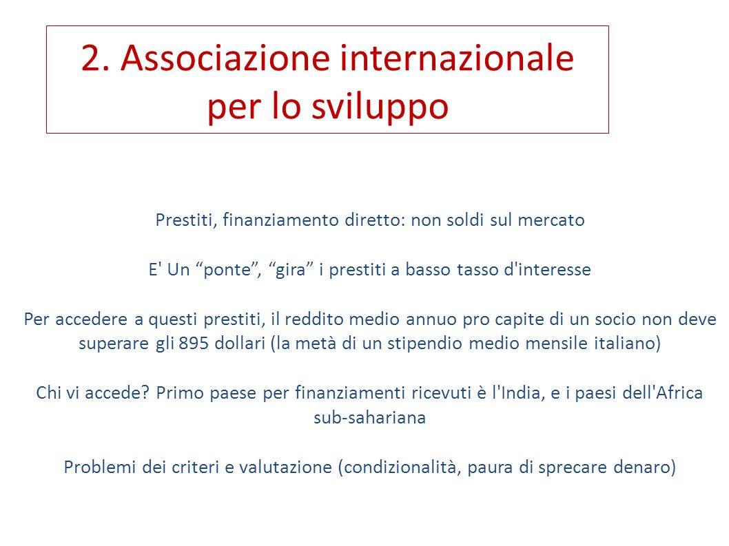 Buoni prestiti Approccio neocoloniale meno marcato (es.